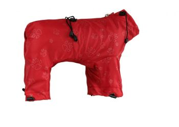 Water resistant dog overall red PAW S23
